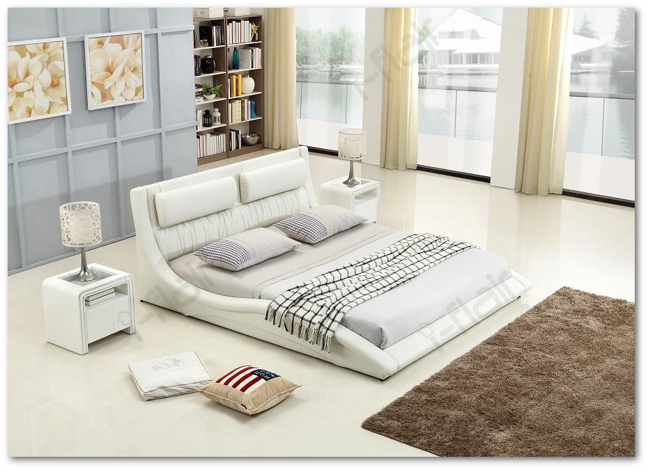 polsterbett doppelbett bettgestell bett leandro 200x200 cm wei 48 ebay. Black Bedroom Furniture Sets. Home Design Ideas