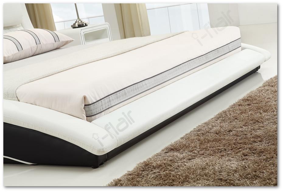 polsterbett doppelbett bettgestell bett leandro 200x200 cm schwarz wei 48 ebay. Black Bedroom Furniture Sets. Home Design Ideas
