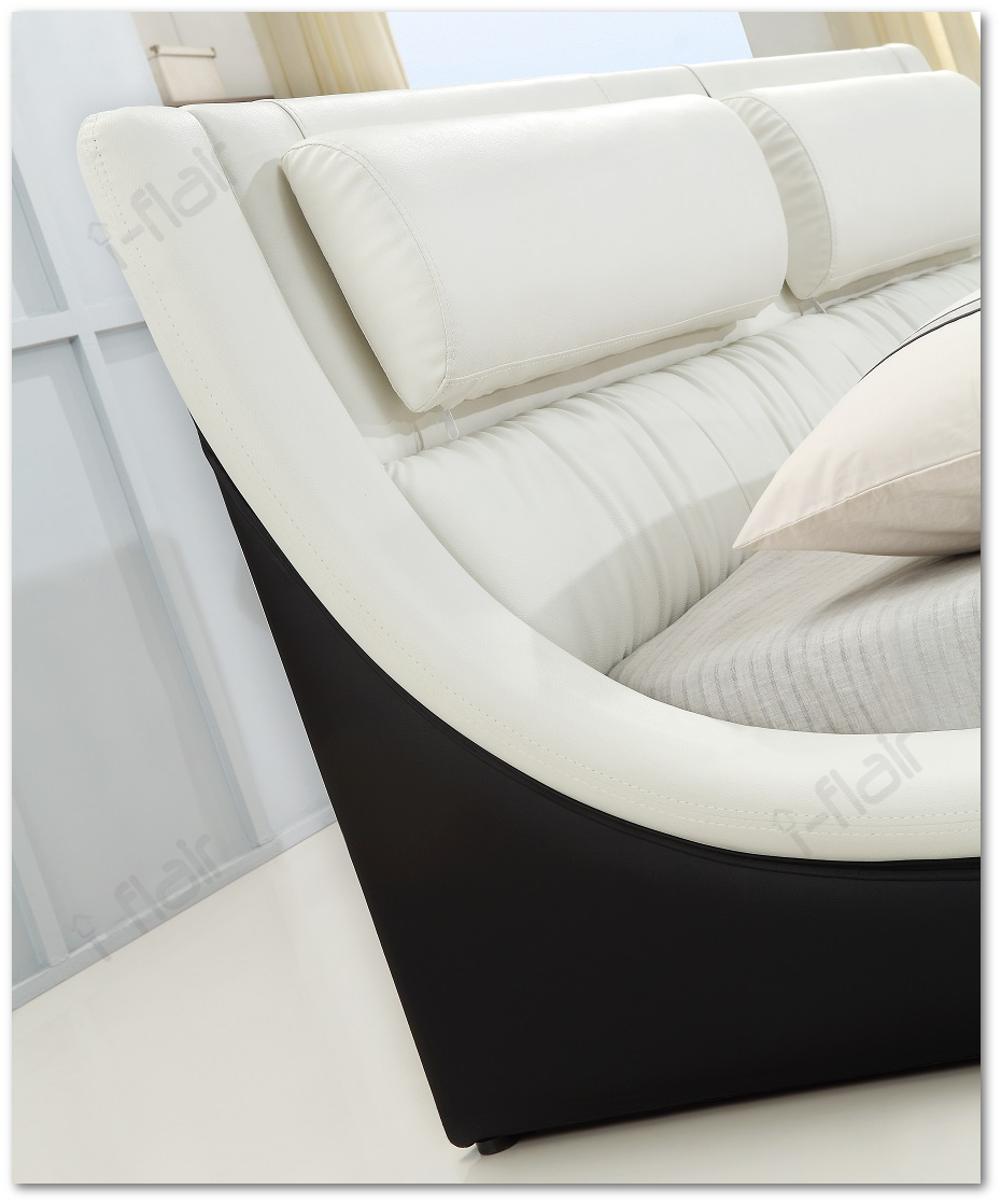polsterbett doppelbett bettgestell bett leandro 140x200 cm schwarz wei 48 ebay. Black Bedroom Furniture Sets. Home Design Ideas