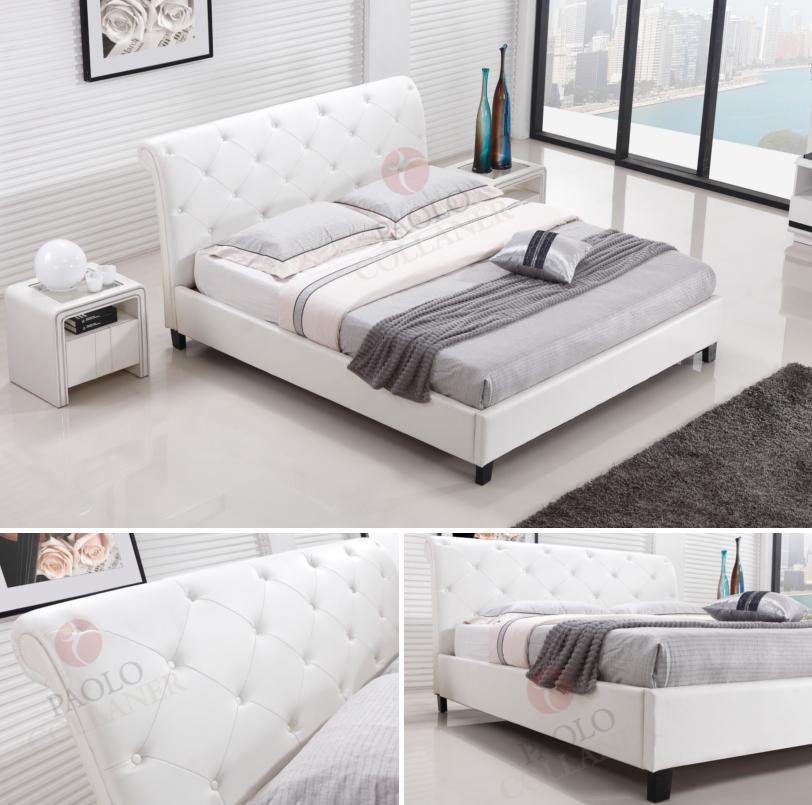 polsterbett bettgestell lederbett doppelbett bett wei alle gr en 78 ebay. Black Bedroom Furniture Sets. Home Design Ideas