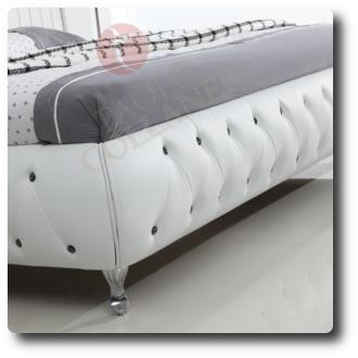 polsterbett bettgestell ehebett lederbett doppelbett bett. Black Bedroom Furniture Sets. Home Design Ideas