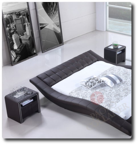 polsterbett bettgestell lederbett doppelbett bett hamilton 180x200 cm braun ebay. Black Bedroom Furniture Sets. Home Design Ideas