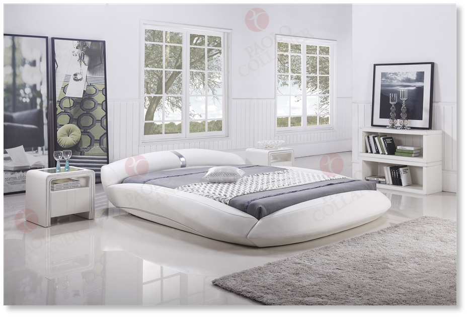polsterbett bettgestell lederbett doppelbett bett giacomo 200x200 cm wei ebay. Black Bedroom Furniture Sets. Home Design Ideas