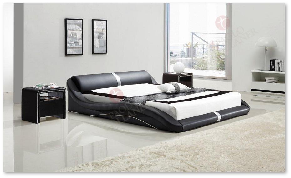 polsterbett doppelbett bettgestell design bett paola 140x200 cm schwarz 58. Black Bedroom Furniture Sets. Home Design Ideas