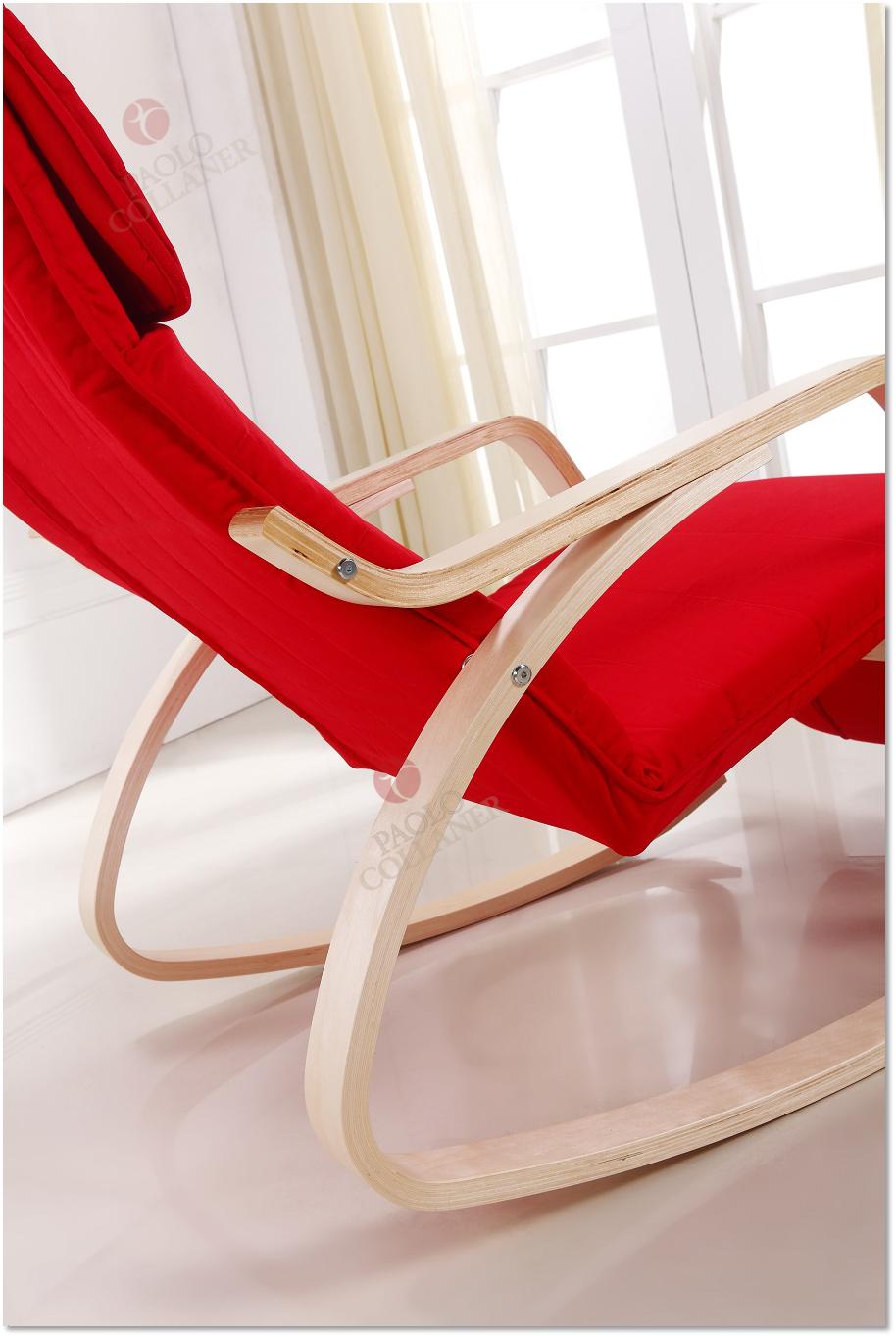 relaxstuhl schwingsessel schwingstuhl schaukelstuhl stuhl st hle rot ebay. Black Bedroom Furniture Sets. Home Design Ideas