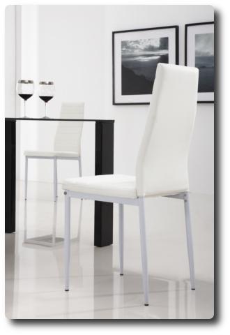 4x wei e lederst hle esszimmerstuhl wohnzimmerstuhl stuhl neu ebay. Black Bedroom Furniture Sets. Home Design Ideas