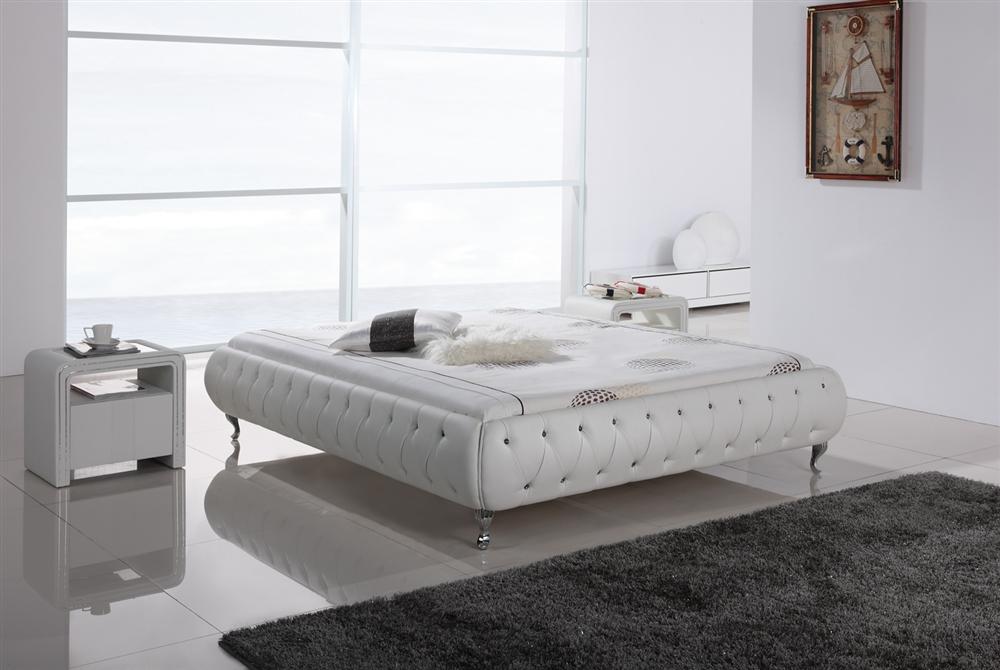 Wasserbettgestell chillout bett polsterbett lederbett for Bett 400x200