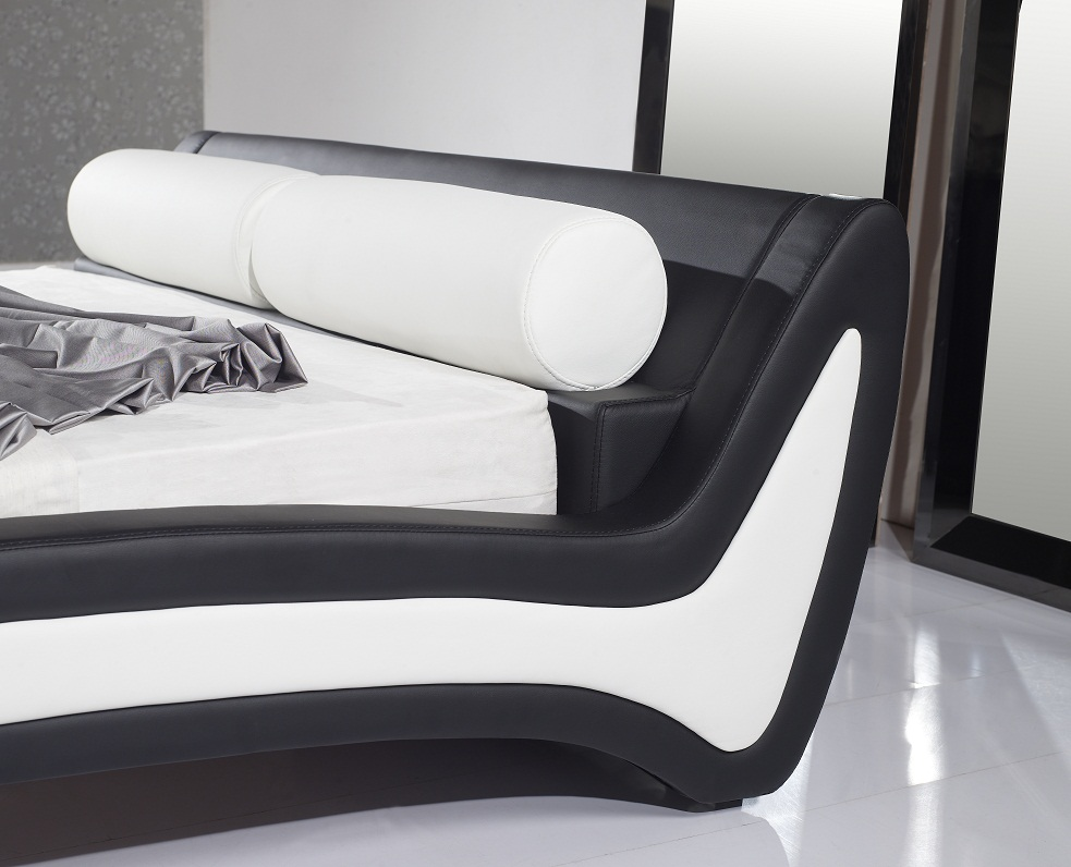 polsterbett bettgestell doppelbett luca 180x200 design bett lederbett lu0bw neu ebay. Black Bedroom Furniture Sets. Home Design Ideas