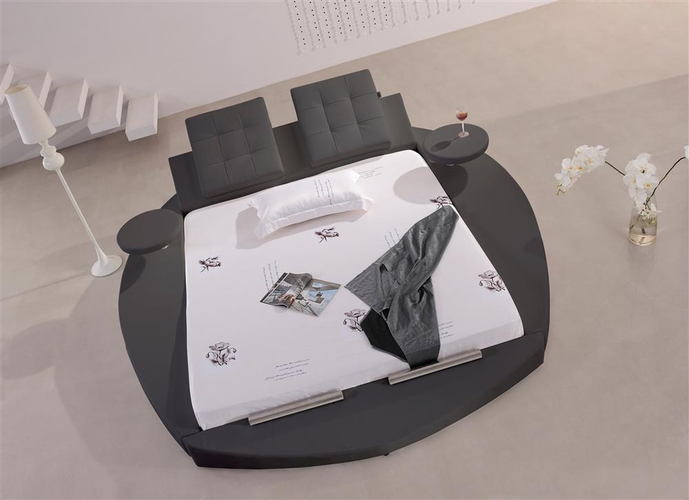 Lit best design en cuir Lit cuir rond nouveau 180x200
