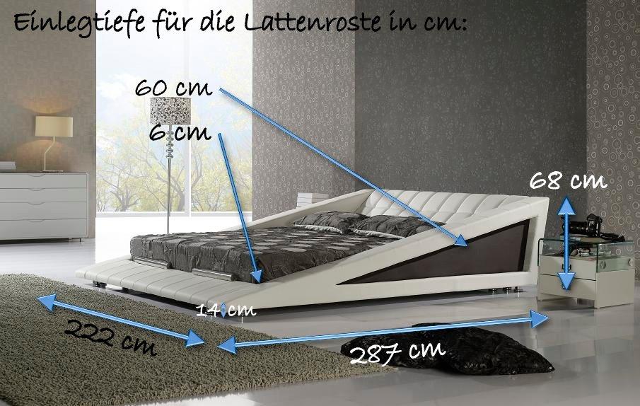 polsterbett doppelbett bettgestell rosso 180x220 design bett lederbett rs8wb ebay. Black Bedroom Furniture Sets. Home Design Ideas
