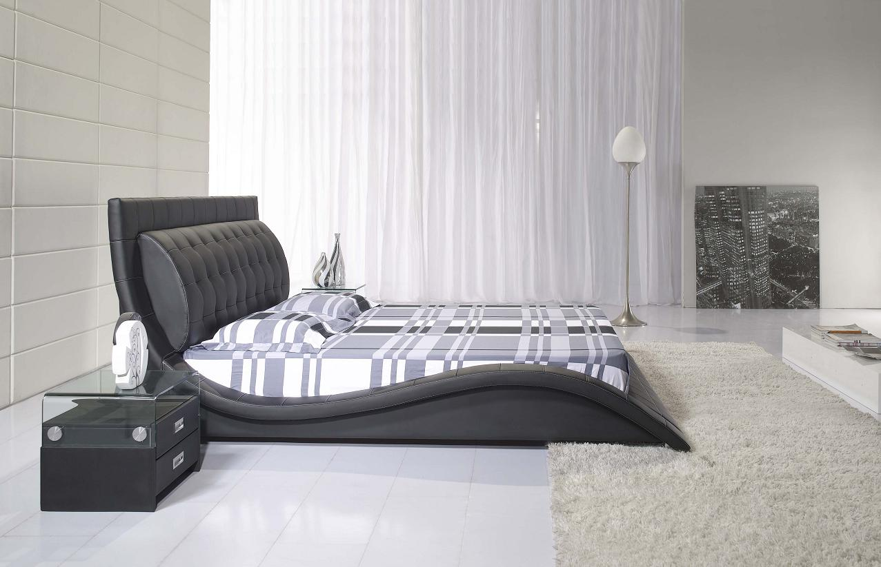 doppelbett lederbett ehebett polsterbett wasserbett tropez 200x220 lederbett s0b ebay. Black Bedroom Furniture Sets. Home Design Ideas