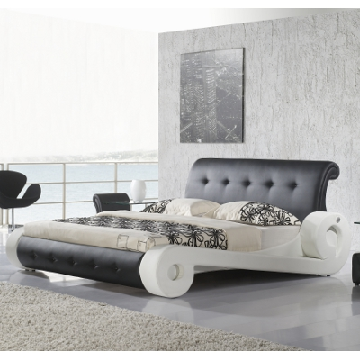 design bett doppelbett bettgestell polsterbett diangelo 180x200 lederbett d0bw ebay. Black Bedroom Furniture Sets. Home Design Ideas