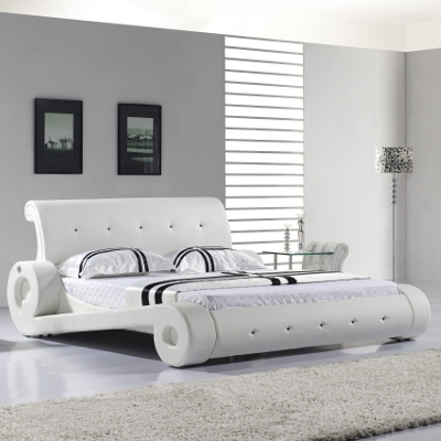 designer polsterbett bettgestell lederbett diangelo 200x200 doppelbett bett d10w ebay. Black Bedroom Furniture Sets. Home Design Ideas
