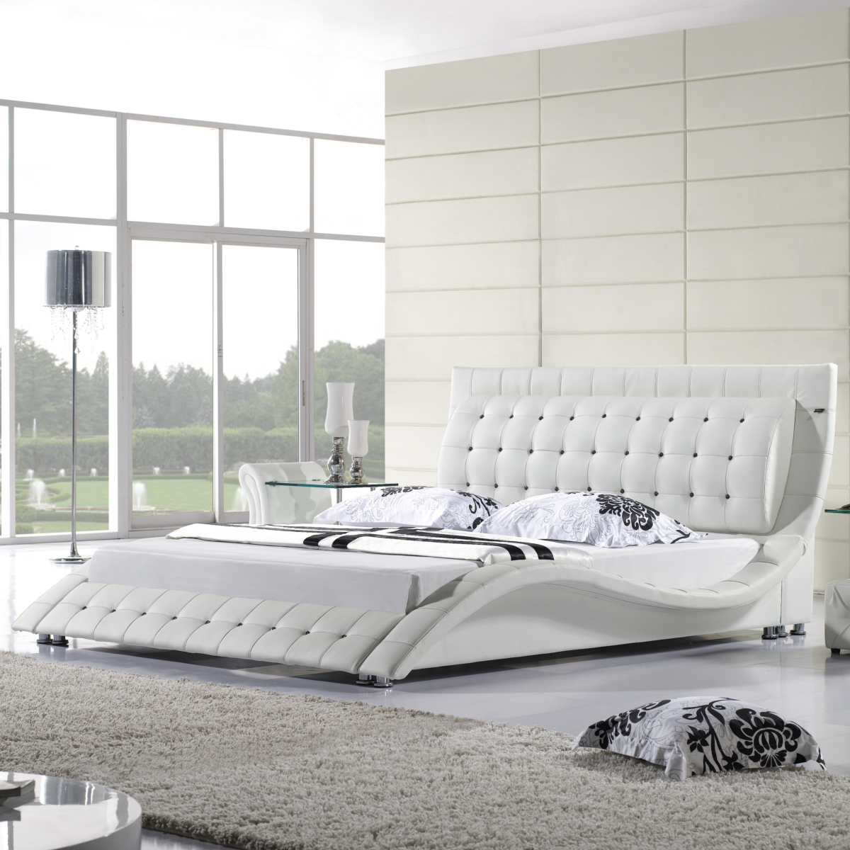 polsterbett lederbett bettgestell bett tropez diamond 160x200 doppelbett i10w ebay. Black Bedroom Furniture Sets. Home Design Ideas