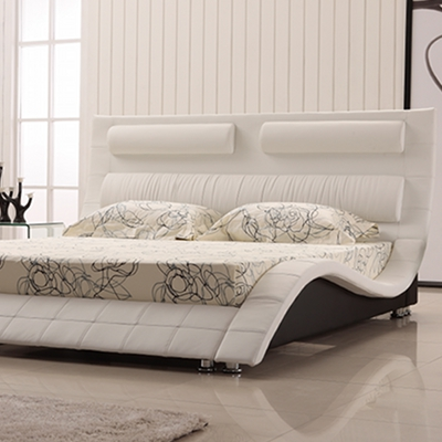 polsterbett doppelbett bettgestell moreno 200x200 design bett lederbett mo0bw ebay. Black Bedroom Furniture Sets. Home Design Ideas