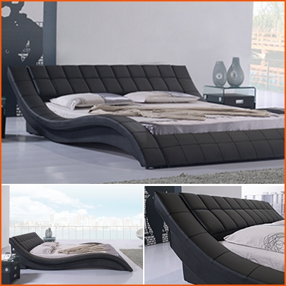 polsterbett bettgestell doppelbett designer lederbett bett raul 160x200 r8b neu. Black Bedroom Furniture Sets. Home Design Ideas